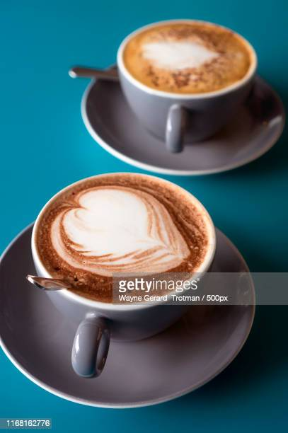 hot chocolate & cappuccino - wayne gerard trotman stock pictures, royalty-free photos & images