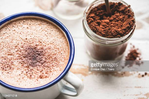 hot chocolate close-up - hot chocolate stock pictures, royalty-free photos & images