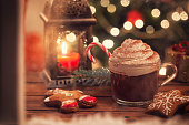 hot chocolate with whipped cream candy