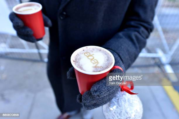Hot Chocolate served at the 'Did You Check eBay' Holiday Airstream at Christkindl Market on December 4 2017 in Denver Colorado