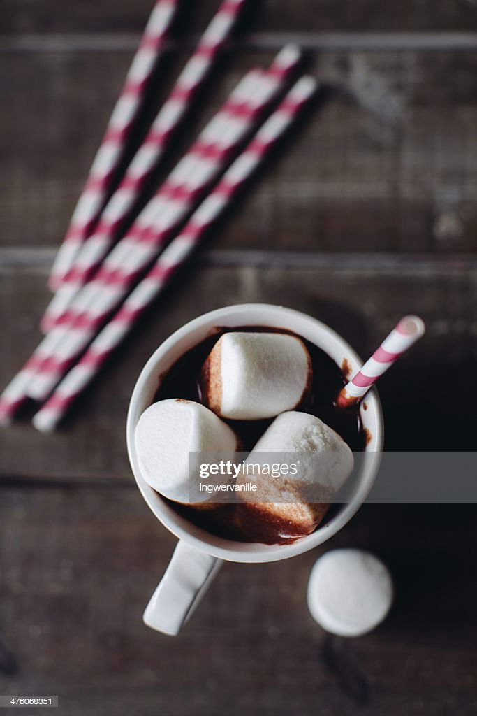 Hot Chocolate with marshmallows : Stock Photo