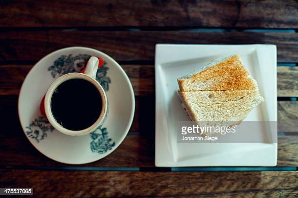 Hot Coffee And Toast
