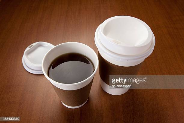 hot coffee - disposable cup stock pictures, royalty-free photos & images