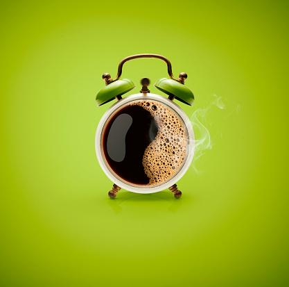 Hot Coffee Retro Alarm Clock 654248756
