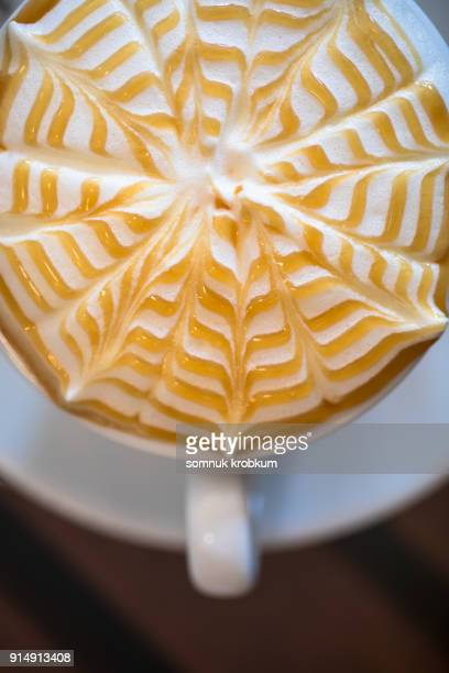 Hot coffee surface