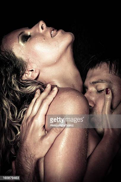 hot couple - hot women making out stock pictures, royalty-free photos & images