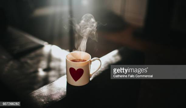 hot cup of tea - hot tea stock pictures, royalty-free photos & images