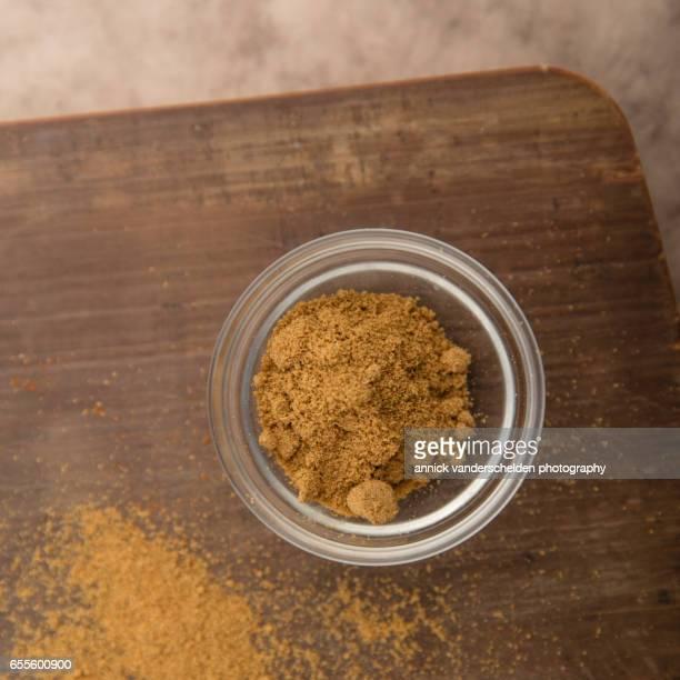 Hot curry powder.