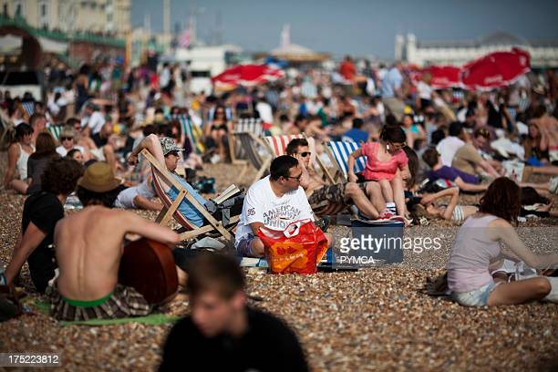 A hot day in June 2010 caused a rush of people visiting Brighton's beaches with many becoming sunburnt and many fights starting