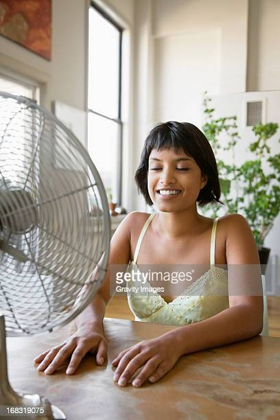 Hot day indoors
