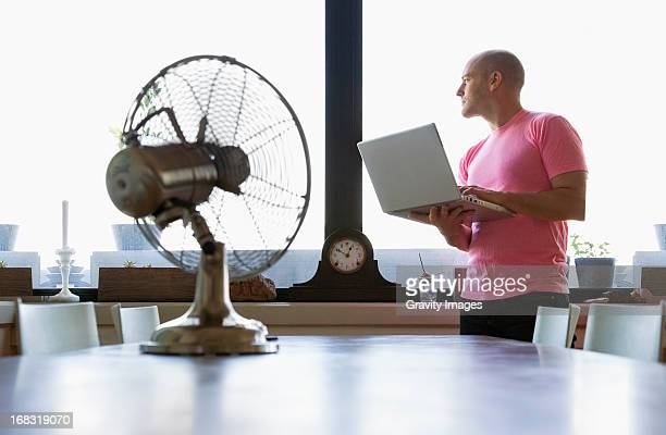 Hot day with computer