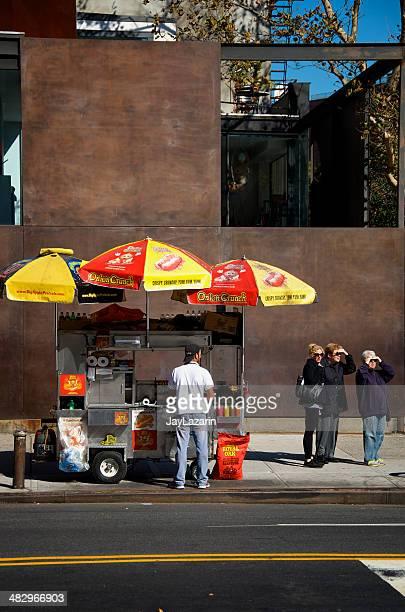 Hot Dog Fast Food Vendor & Cart, Chelsea, Manhattan, NYC