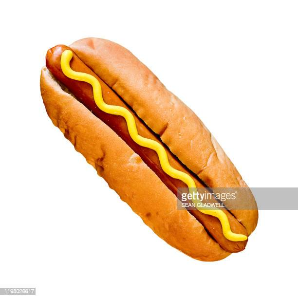 hot dog isolated - plain background stock pictures, royalty-free photos & images