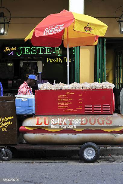 Hot dog stand in French Quarter