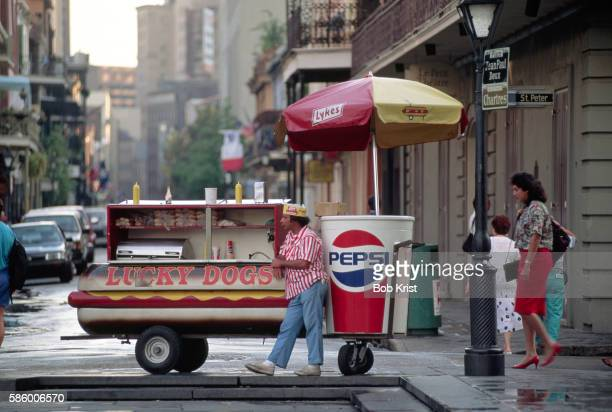 Hot Dog Vendor in the French Quarter