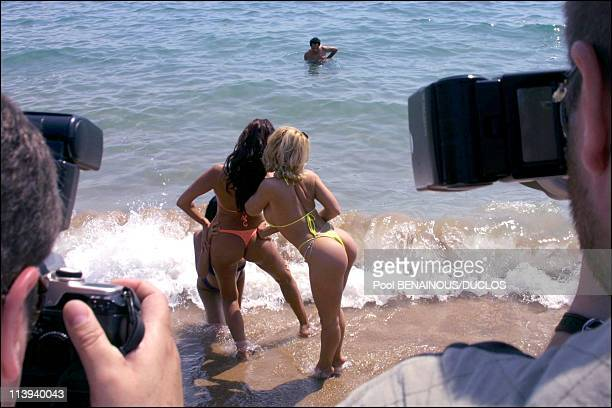 Hot d'or porn festival in Cannes French porn stars on the beach In Cannes France On May 15 2001French actress Dolly Golden Tera Patrick Olivia del Rio