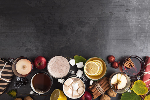 Hot drinks for fun and festive autumn and winter  holidays - gettyimageskorea