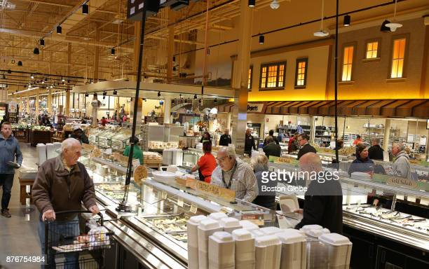 A hot food bar at the new Wegmans store in Medford MA is pictured on Nov 14 2017 The store is an epic 120000squarefoot grocery shopping experience...