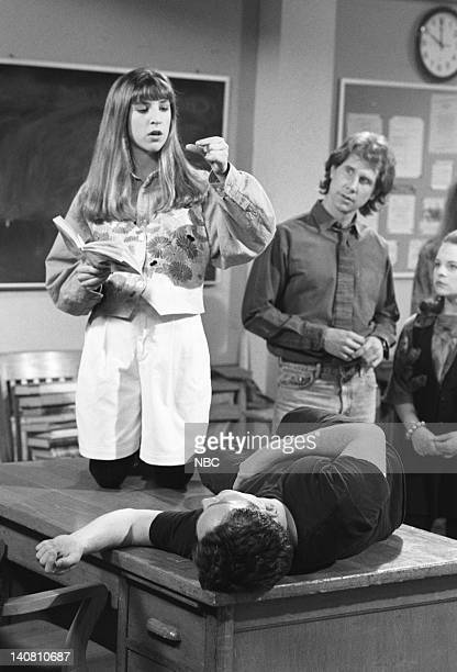 BLOSSOM Hot for Teacher Episode 15 Aired Pictured Mayim Bialik as Blossom Russo Parker Stevenson as Jim/ Scott Alexander Jenna von Oy as Six LeMeure...