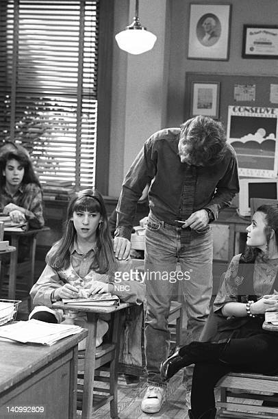 BLOSSOM Hot for Teacher Episode 15 Aired Pictured Mayim Bialik as Blossom Russo Parker Stevenson as Jim / Scott Alexander Jenna von Oy as Six LeMeure...