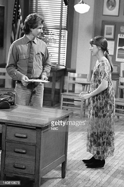 BLOSSOM Hot for Teacher Episode 15 Aired Pictured Parker Stevenson as Jim/ Scott Alexander Mayim Bialik as Blossom Russo Photo by Paul...