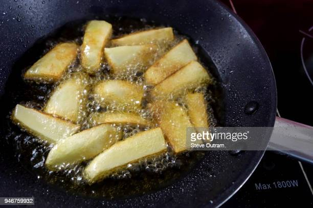 Hot French Fries in a skillet