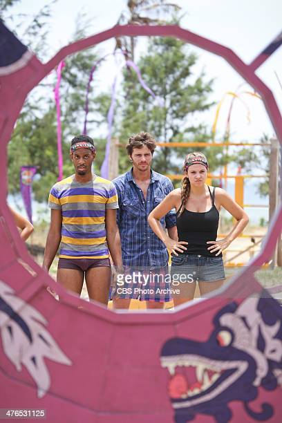 Hot Girl With A Grudge Brice Johnston Jeremiah Wood and Morgan McLeod of the Beauty Tribe during a special twohour season premiere of SURVIVOR...