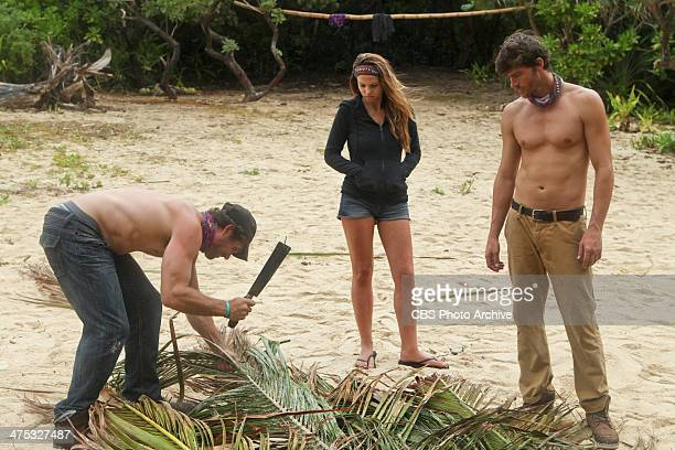 Hot Girl With A Grudge LJ McKanas Morgan McLeod and Jeremiah Wood of the Beauty Tribe during a special twohour season premiere of SURVIVOR CAGAYAN...