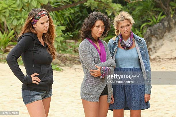 Hot Girl With A Grudge Morgan McLeod Alexis Maxwell and Jefra Bland of the Beauty Tribe during a special twohour season premiere of SURVIVOR CAGAYAN...