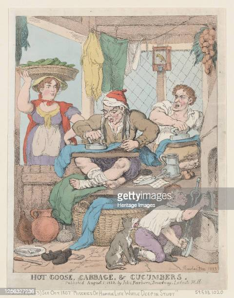Hot Goose Cabbage Cucumbers 1823 Artist Thomas Rowlandson