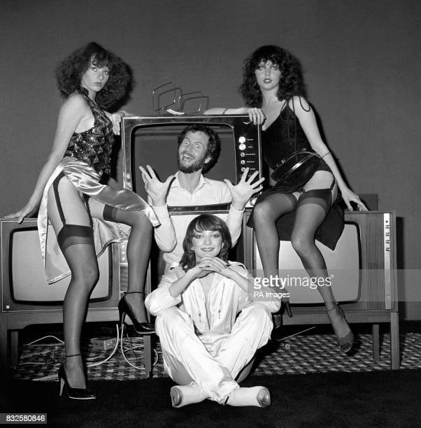 Hot Gossip girls Lyndsey Ward Sarah brightman and Perri Lister teamed up with Kenny Everett to launch his Video Show which is new to him and new to TV
