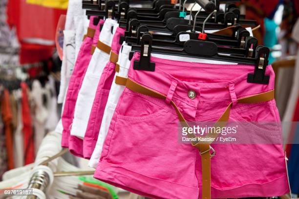 Hot Pants For Sale In Market Stall