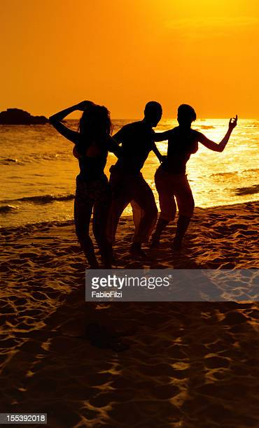 hot party on the beach