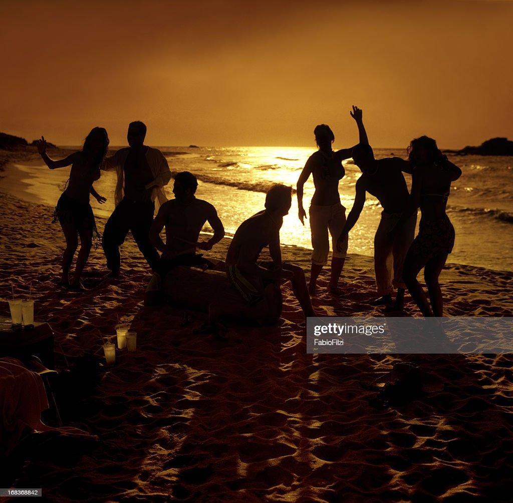 hot party on the beach : Stock Photo