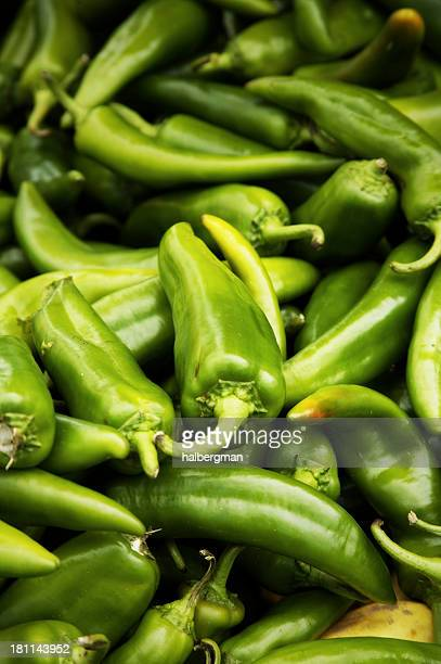 hot peppers - green chili pepper stock pictures, royalty-free photos & images