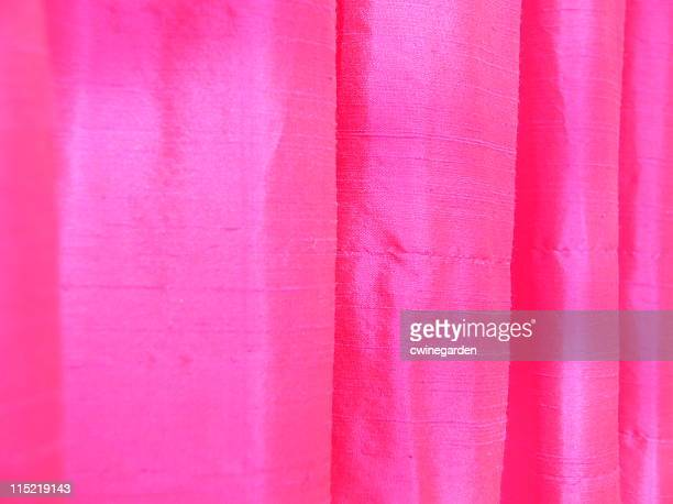hot pink thai silk - hot pink stock photos and pictures