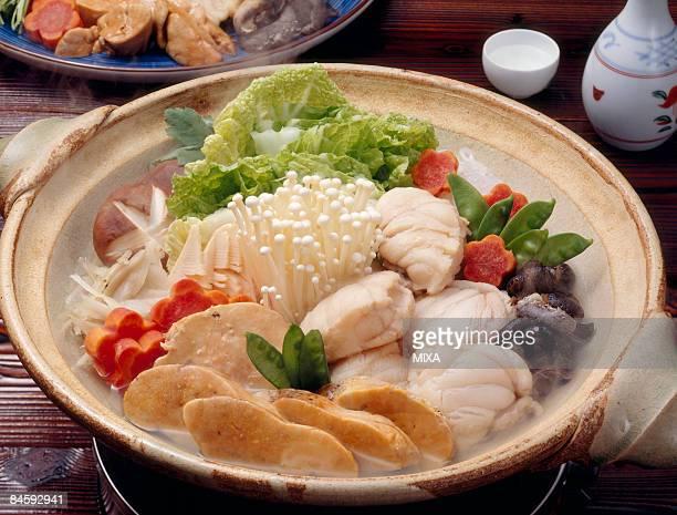 hot pot dish - アンコウ ストックフォトと画像
