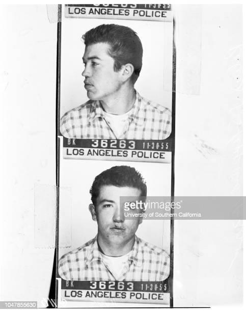 Hot rod bandits 30 November 1955 David Edward PriceDonald E RobinsonRobert J SheppardBerkley BryantLarry Gordon Harris Caption slip reads...