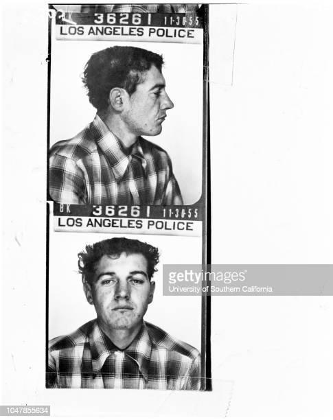 Hot rod bandits, 30 November 1955. David Edward Price;Donald E Robinson;Robert J Sheppard;Berkley Bryant;Larry Gordon Harris .;Caption slip reads:...