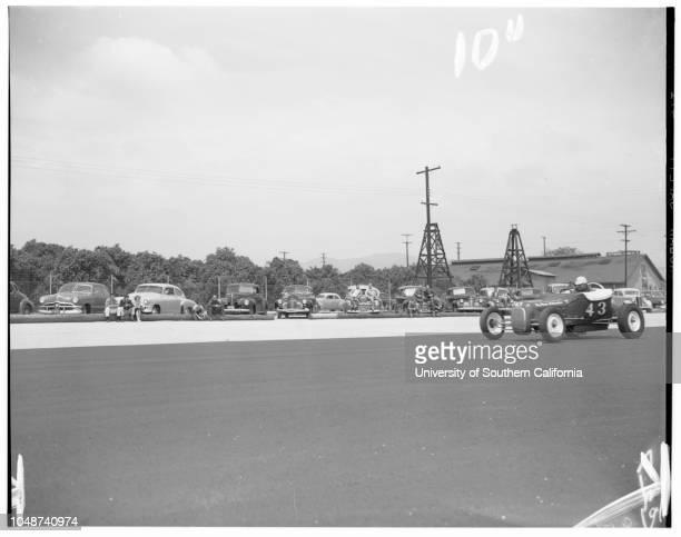 Hot rods Pomona 27 April 1952 Carlos RamirezMike MagemJoaquin ArnettDave AllisonJim ChonerVal PeytonWayne WrightWarnetta SwellRussell DwyerMaxine...