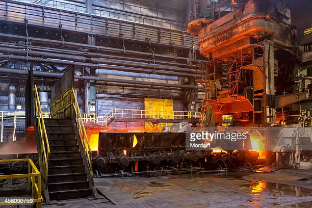 Hot rolled workshop, steel mill, Russia