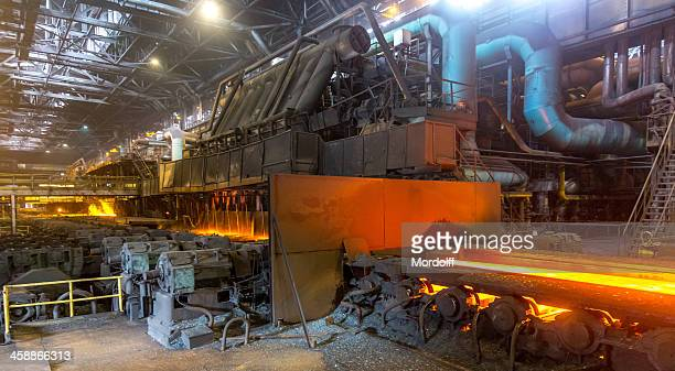 Hot rolling steel line, industrial plant, Cherepovets, Russia