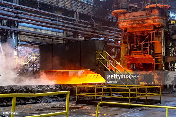 Hot rolling steel production line, industrial plant, Cherepovetsl, Russia