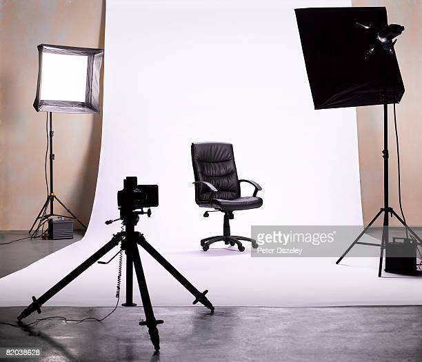 Hot seat in photographic studio.