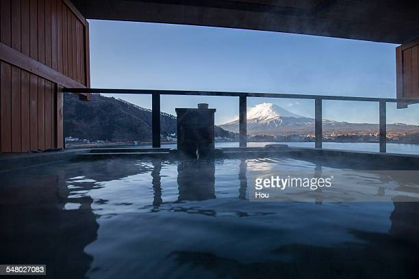 Hot spring in Fuji Mountain