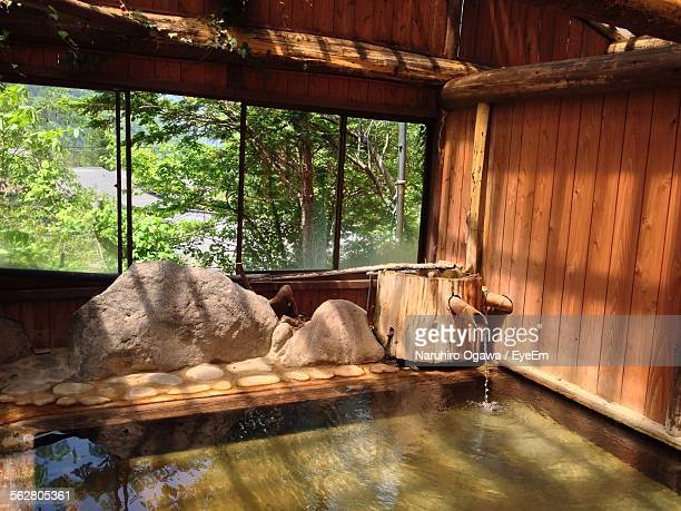 hot spring in tourist resort - hot spring stock pictures, royalty-free photos & images