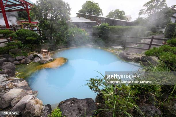 hot spring, kamegawa, japan - hot spring stock pictures, royalty-free photos & images
