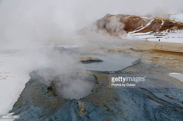 Hot springs and mud pots of Hverar_nd near Myvatn in north Iceland