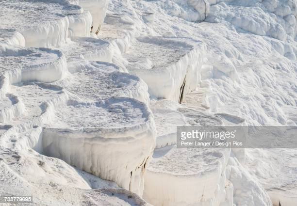 Hot springs and travertines, terraces of carbonate minerals, Pamukkale