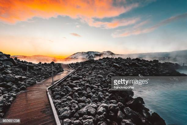 hot springs in iceland - hot spring stock pictures, royalty-free photos & images